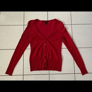 H&M cardigan in red